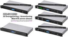 "1U ITX (LCD)(300W PSU) (5.25""/ 3.5""/2x2.5""HD)(Rackmount Chassis)(D9.84"" Case)NEW"