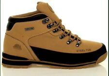 MENS GROUNDWORK  SAND  SAFETY STEEL TOE CAP WORK  TRAINER BOOTS HONEY SIZE uk 8