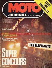 MOTO JOURNAL  254 YAMAHA 500 XT MOTOBECANE 125 LT 350 DON VESCO ELEPHANTS 1976