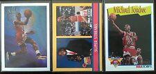 1990-91 (LOT OF 3!) NBA HOOPS MICHAEL JORDAN #385, #317 & 358 CARDS IN MT/NRMT!
