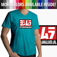 Yoshimura Hideo Pops Motorcycle USA Japan Racing Mens Unisex Tee V-Neck T-Shirt