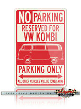 Volkswagen VW Bus Kombi Microbus Reserved Parking Only 12x18 Aluminum Sign