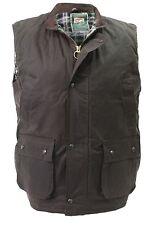 High Mount Wax Waistcoat 100%25 Cotton Oilskin Gilet Bodywarmer Country Farm Vest