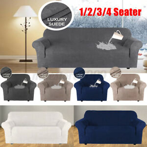 1-4 Seater Slipcover Stretch XL Sofa Armchair Loveseat Cover Couch Protector