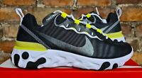 WOMENS NIKE REACT ELEMENT 55 BLACK WHITE LEMON VENOM UK4.5 US7 EUR38 CN3591 001
