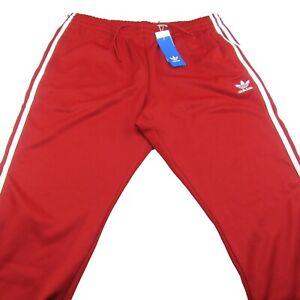 Adidas Originals Superstar Red Athletic Track Pants Men's Size 2XL NEW DV1534