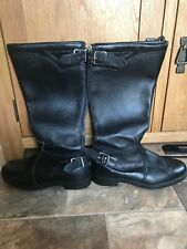 Vintage Ashmans Leather Motorbike Boots Left 7 Right 8