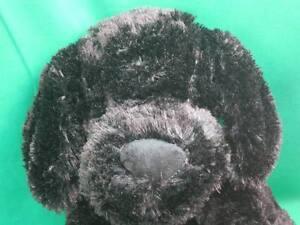 BIG FLUFFY SOFT BLACK PUPPY DOG CIRCO TARGET STORE ANIMAL ADVENTURE PLUSH TOY