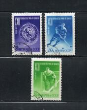 Russia 1957 23rd World Ice Hockey Moscow  Hinged CTO. One postage for multi buys
