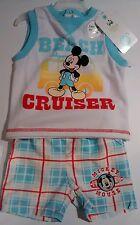 disney baby Boy summer tank top short beach cruiser 2pcs mickey mouse 3-6m blue