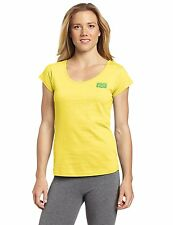 Asics OT Women's Corner Logo Tee, Large, Yellow