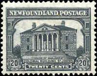 Mint H Canada Newfoundland 1931 20c F+ Scott #181 Stamp