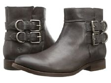 New in Box FRYE Womens Molly D Ring Short Boot Side Buckle Charcoal Size 6 M US