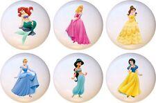 Set Of 6 Disney Princess Body CERAMIC Drawer Pulls Dresser Drawer Cabinet  Knobs