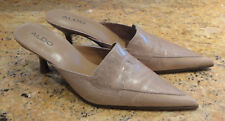 Aldo Mules Shoes 40 US Size 9 Beige Leather New Beautiful!