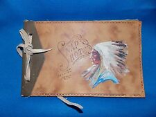 40's Snap Shots Selkirk Beach Indian Chief W/Head Dress Picture Photo Album Full