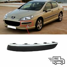 FOR PEUGEOT 407 2004-2010 FRONT BUMPER CHROME MOLDING TRIM LEFT N/S 7452CA NEW