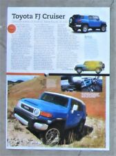 TOYOTA FJ CRUISER AWD 2011 Car Auto Magazine Page Article Ad Preview Review 4X4