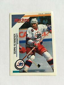 1993-94 WINNIPEG JETS Panini Stickers #197 Teppo Numminen Unused Sticker SP