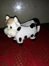 Vintage Ceramic Black & White Cow Creamer