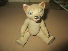 RARE ancien jouet ours ourson en porcelaine biscuit ? allemand ? bear porcelain