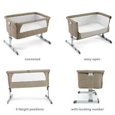 Next2me berceau colombe gris beige Chicco Baby Co sleeping lit chevet Next To Me