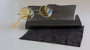 Oliver Peoples Round prototype Silver 41-22  OP original case/Cloth Yellow lens