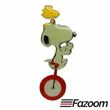 Peanuts Snoopy & Woodstock Unicycle Lapel Pin