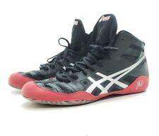 Asics Jb Elite Wrestling Shoes Men's Size Us 12 Eur 46 J3A1Y Black/Sliver/Red
