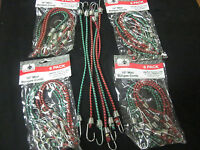 "~ 30 ~ GOLIATH INDUSTRIAL 10"" MINI BUNGEE CORDS TIE DOWN STRAPS CORD RED GREEN"