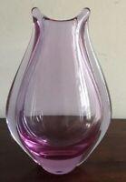 Magnificent Vintage Zelensky Brod Mauve Czech Glass Vase