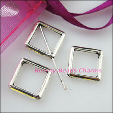 20 New Charms Square Circle Spacer Frame Beads 12mm Tibetan Silver