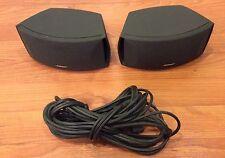 Bose 3-2-1  321 Graphite bookshelf speakers -Series I, II, III, GS, GSX W Cables