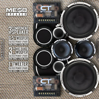 "CT Sounds Meso 6.5"" Inch 3 Way Car Audio Component Speakers Set"