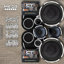 "CT Sounds Meso 6.5"" Inch 3 Way Full Range Car Audio Component Doors Speakers Set"