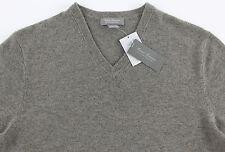 Men's DANIEL CREMIEUX V-Neck Tan Light Brown CASHMERE Sweater XXL 2XL NWT NEW