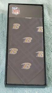 Baltimore Ravens Men's Necktie Licensed NFL Football Sports Fan black Tie