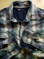 Mens Long Sleeve Check Cotton Shirt Medium M