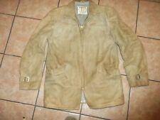 vintage  50s Mc Gregor sheepskin leather lined jacket men sz 38 medium