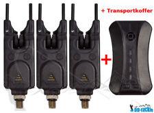 3+1 Elektronische Funkbissanzeiger Set + Koffer Baitalarm Bissanzeiger Karpfen