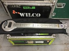 Fouke Industrial Aluminum Bass Lap Steel owned by Jeff Tweedy / Wilco Signed COA