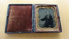 Tintype Occupational Male Violinist 1/6 Plate in Case