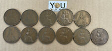 More details for george vi one penny coin - date run full set 11 coins - highly collectible
