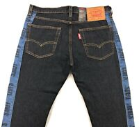 Levis Hi Ball Roll Logo Stripe Jeans Mens Dead Ball Black Cropped Tapered Leg