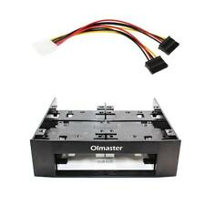 3.5//2.5inch Universal Hard Drive Mounting Bracket Adapter for 5.25 Inch Bay