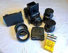 Mamiya Rz67 Pro Medium Format Slr Film Camera with 90mm, 110mm, 180mm, Polaroid