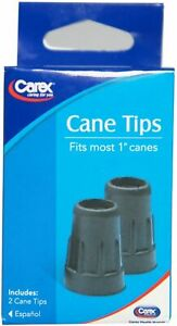 """Carex Cane Tips Fits Most 1"""" Canes, 2 Each"""