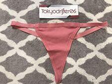 XS Victoria's Secret V String G String Basic Cotton Thong Panty Underwear Rose