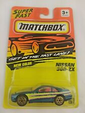 1990 Matchbox Diecast Nissan 300 Zx Excellent Condition! #61 Blue Yllow & Pink