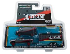 1:64 GreenLight *Hitch & Tow* The A-Team Chevy Silverado Gmc Van & Trailer *Nip*